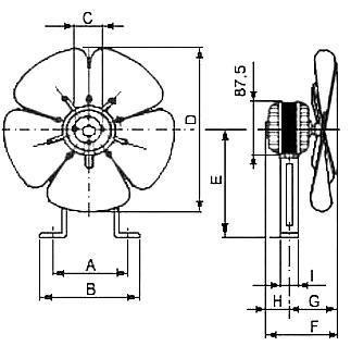 Lüftermotor 25 Watt für Kühltheken Kälte und Klimatechnik